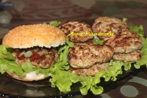 Нежные котлеты для гамбургера