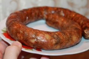Домашняя колбаса рубленая