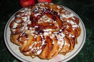 Постный сливово-яблочный пирог