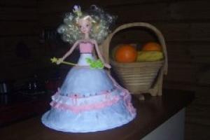 Торт-кукла для девочки