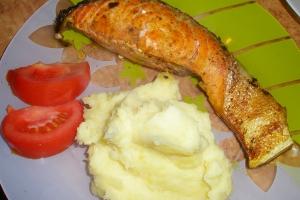 Стейк с лосося