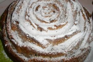 Кекс на кефире Розочка
