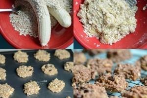 Печенье из овсяных хлопьев и бананов