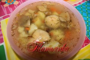 Суп «Груздянка»