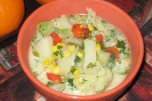 Американский овощной суп