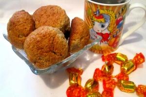 Овсяное печенье с творожно-кокосовой начинкой