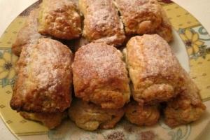 Творожное печенье с апельсиновой цедрой