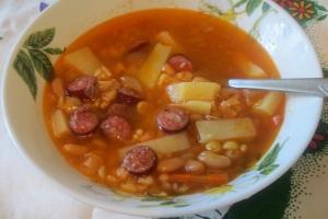 Айнтопф-немецкий суп с копченостями