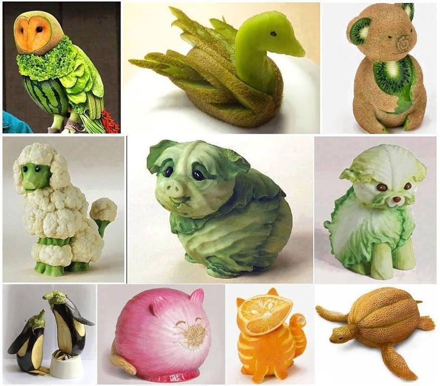 Фигурки из овощей своими руками фото