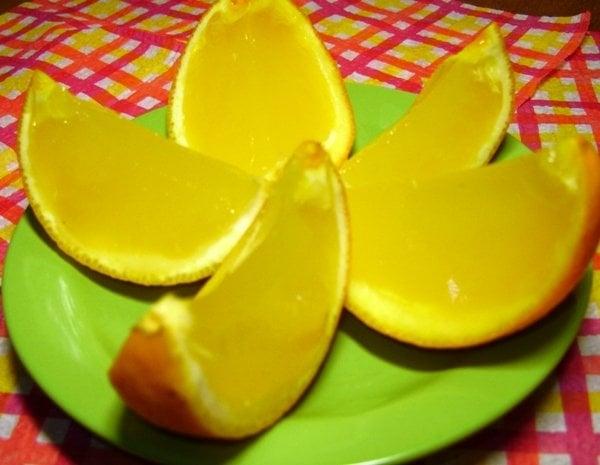 Как сделать с апельсина желе