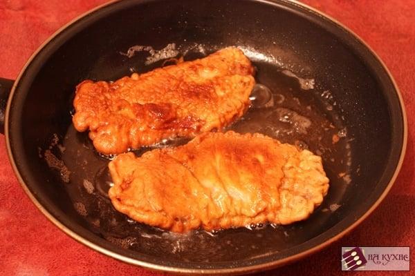 Отбивная из свинины на сковороде в кляре пошагово