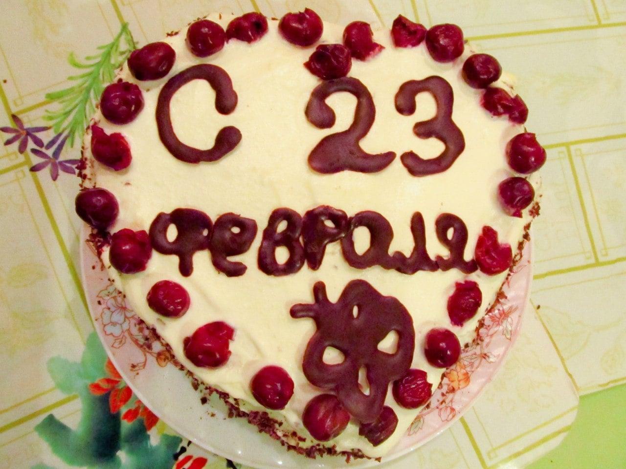 Шоколадно бисквитный торт с заварным