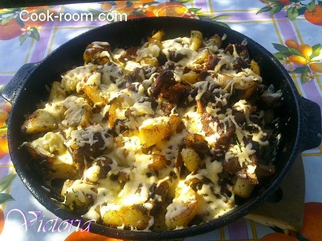 картошка на костре