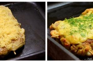 16 Посыпаем тертым сыром и ставим в заранее...